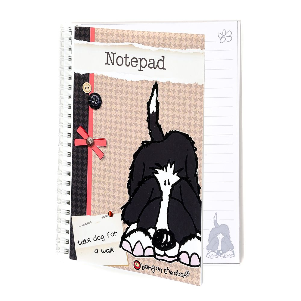 Bang On The Door Shaggy Dog Notebook