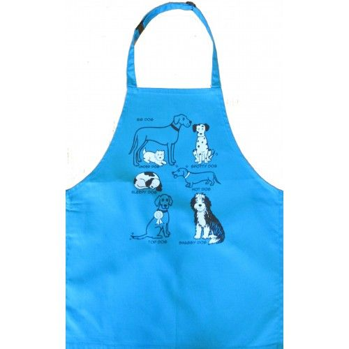 British Country Collection All Kinds of Dogs Child's Apron