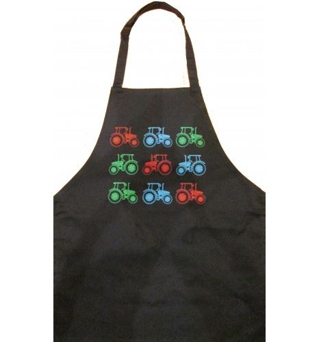 British Country Collection Lots of Tractors Child's Apron