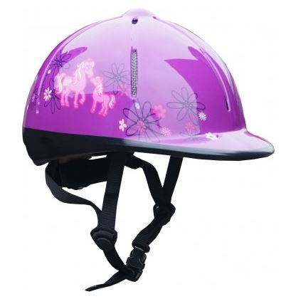 Red Horse Safety Helmet in Purple