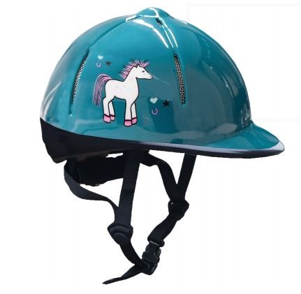 Red Horse Safety Helmet in Sea Green